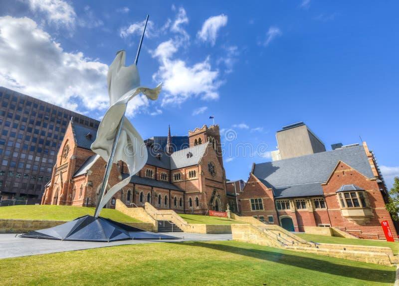 圣乔治的大教堂,珀斯,西澳州 免版税图库摄影