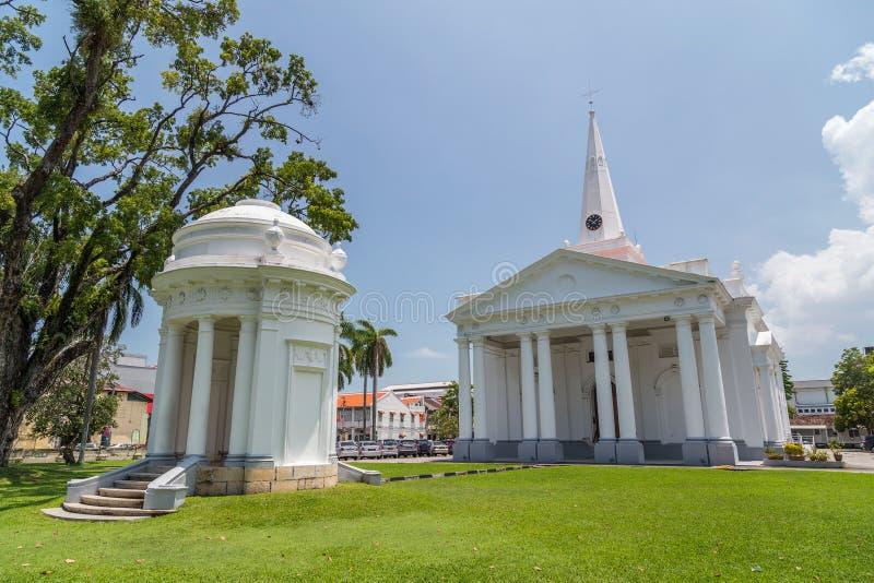 圣乔治的教会在乔治城,槟榔岛,马来西亚 免版税图库摄影