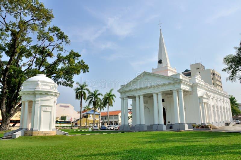 圣乔治的教会在槟榔岛 免版税库存图片