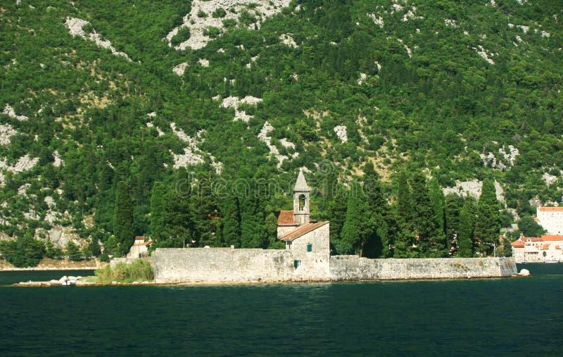 圣乔治,黑山海岛  免版税库存照片