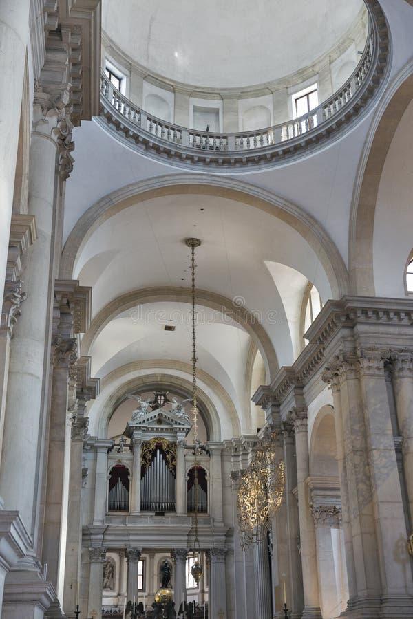 圣乔治Maggiore内部教会在威尼斯,意大利 免版税库存图片