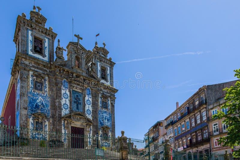 圣伊尔德丰索堂,波尔图,葡萄牙 免版税库存照片