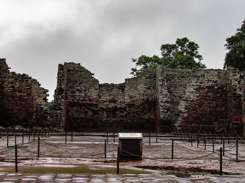 圣伊格纳西奥历史的废墟微型,在阿根廷市圣Ig 免版税库存照片