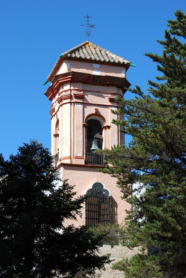 圣伊莎贝尔de洛杉矶女修道院钟楼,朗达,西班牙的可怜的科拉雷斯 库存图片