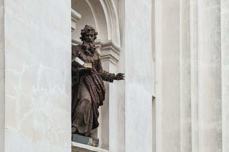 圣伯多禄和保罗大教堂在卢茨克,乌克兰 免版税库存图片