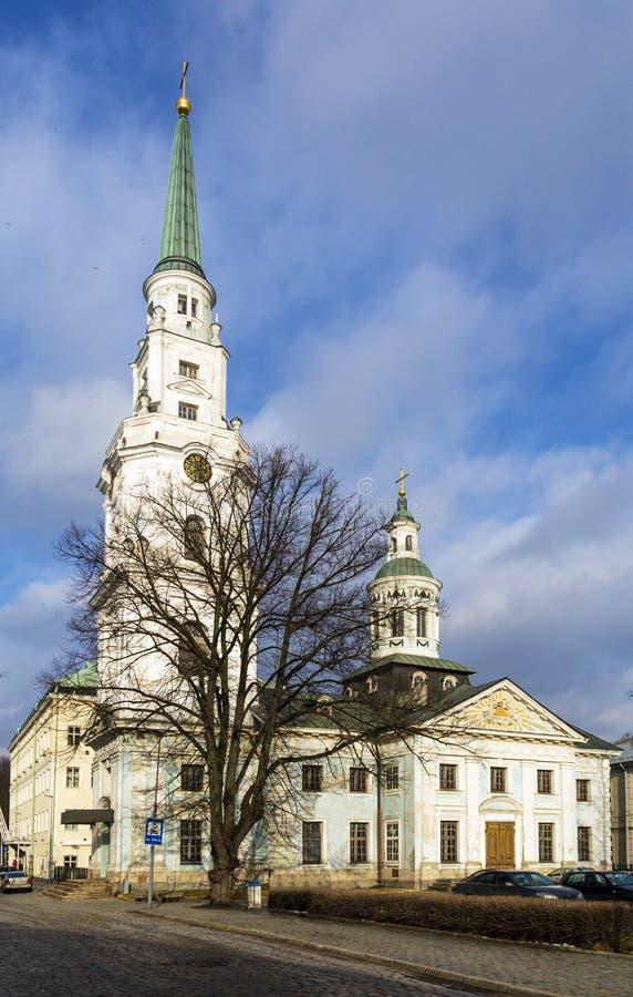 圣伯多禄和圣保罗教会,里加 免版税库存照片