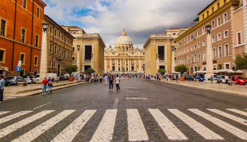 圣伯多禄大教堂,梵蒂冈,罗马,意大利 免版税库存图片