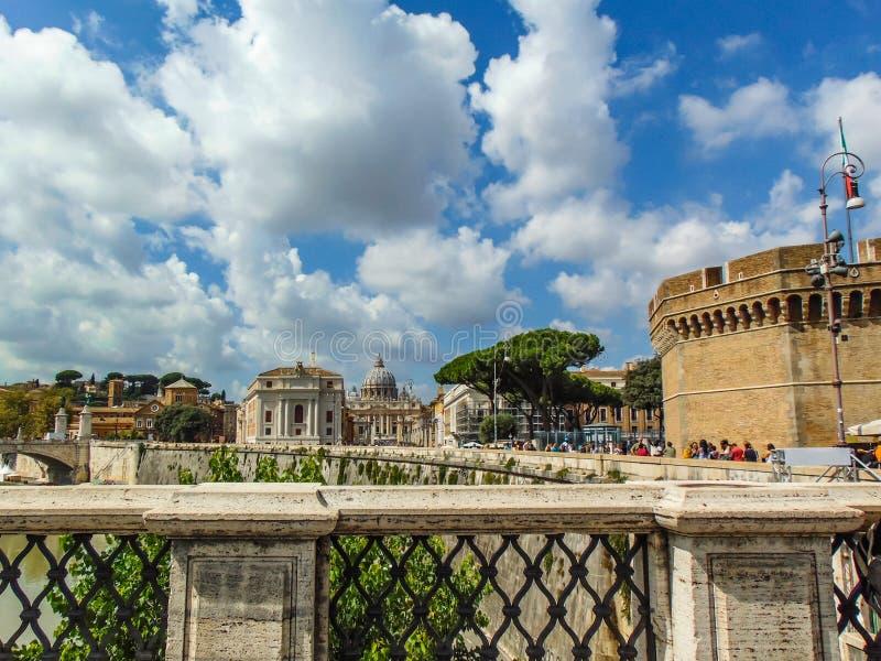 圣伯多禄大教堂,梵蒂冈-罗马,意大利 免版税库存图片