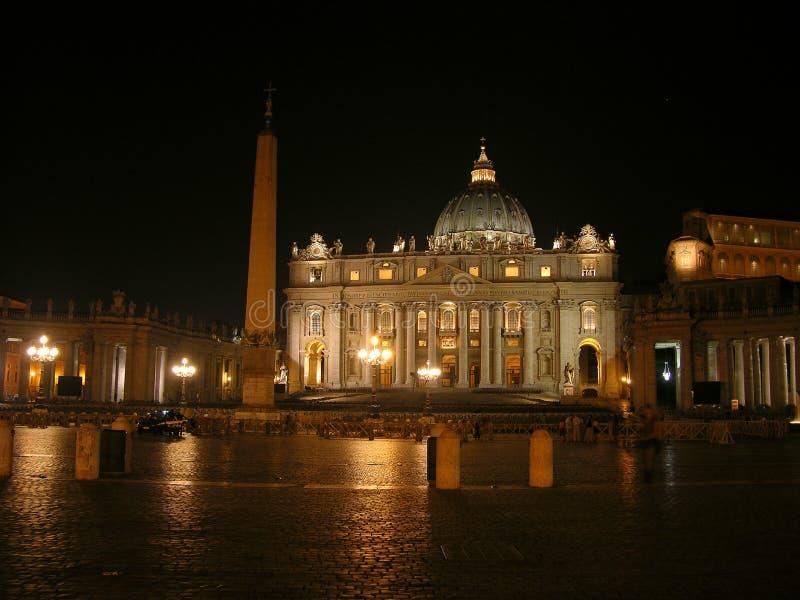 圣伯多禄的Basillica在梵蒂冈 图库摄影
