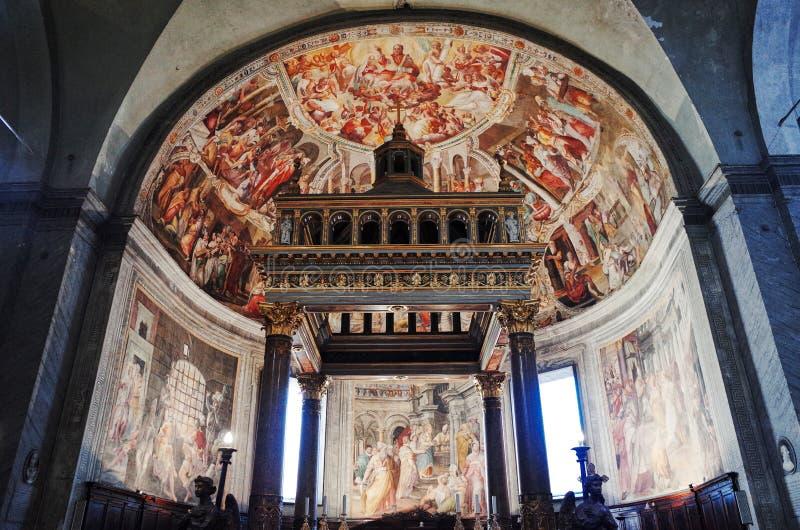 圣伯多禄锁链堂被囚禁的圣彼得,罗马,意大利 免版税库存图片