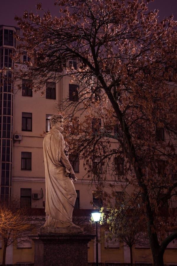 圣伯多禄雕塑在庭院里 库存照片