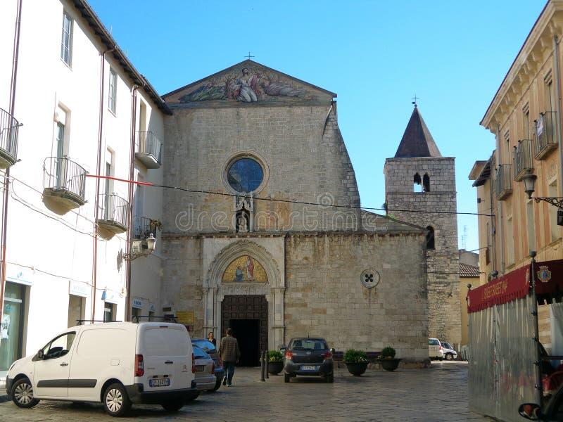 圣伯多禄` s传道者教区在丰迪,意大利 免版税库存照片