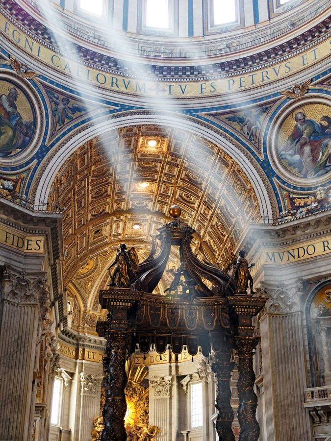 圣伯多禄` s大教堂,罗马 库存照片