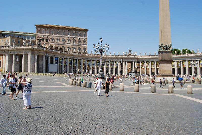 圣伯多禄` s正方形,罗马,镇中心,地标,广场,宫殿 免版税库存照片