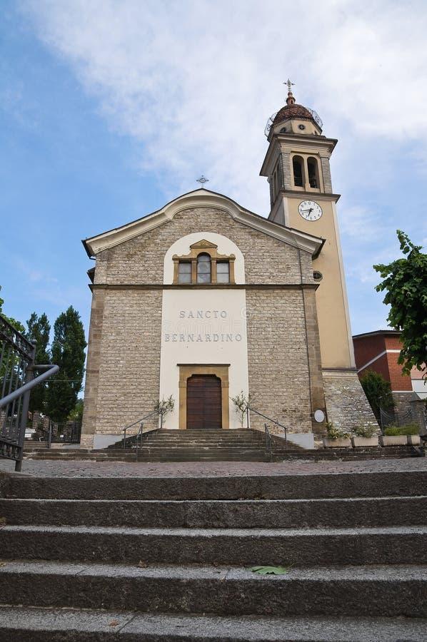圣伯纳迪诺教会。Bettola。伊米莉亚罗马甘。意大利。 免版税库存照片