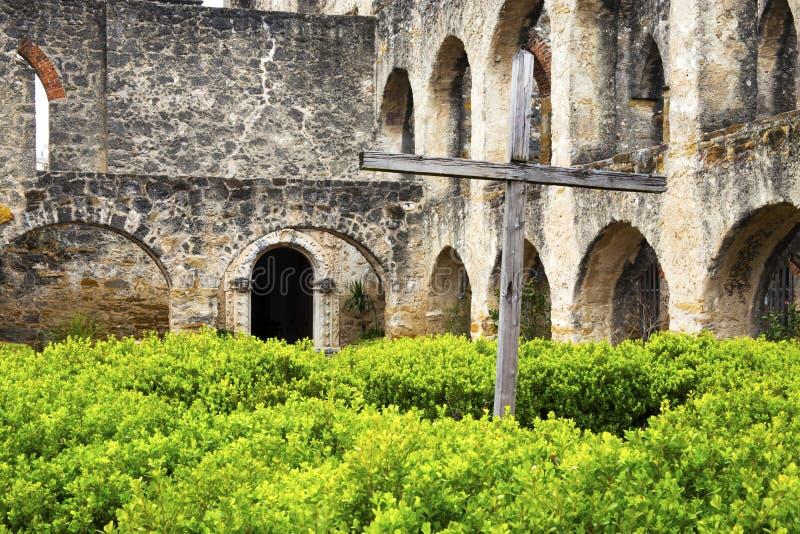 圣何塞使命在圣安东尼奥,得克萨斯 库存图片