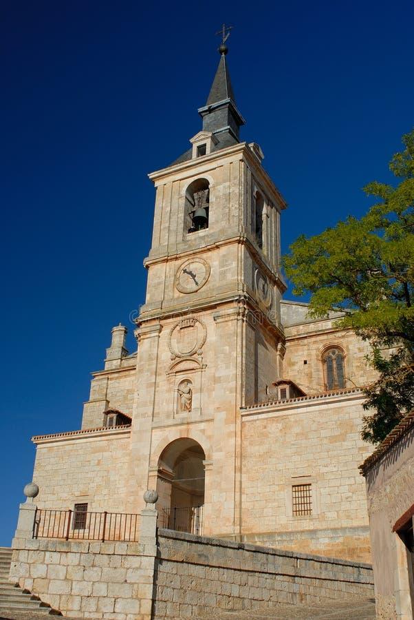 圣佩德罗火山的教会在莱尔马,布尔戈斯,西班牙 免版税库存照片