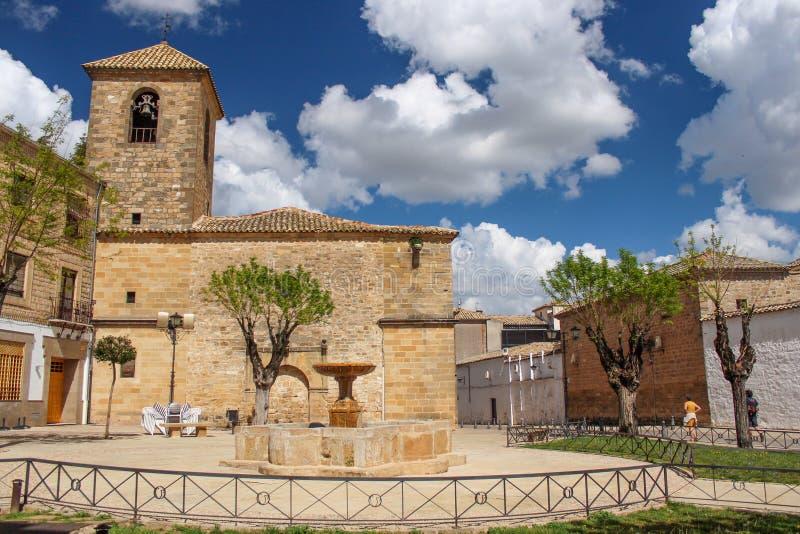 圣佩德罗火山Iglesia de圣佩德罗火山,宇部,西班牙教会  免版税库存照片