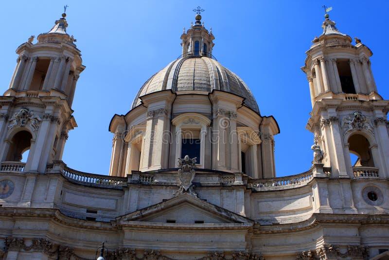 圣依搦斯蒙难堂教会,罗马 库存照片