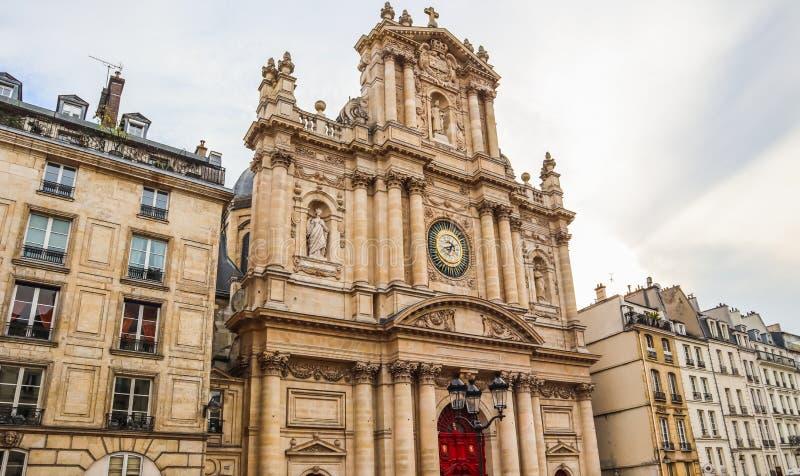 圣保禄圣路易教堂教会在巴黎,法国 免版税图库摄影