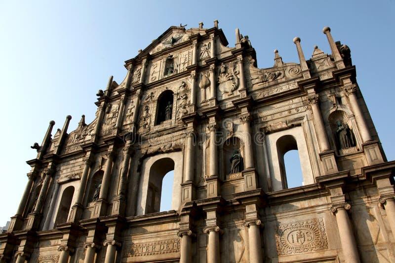 圣保罗大教堂废墟  免版税库存照片