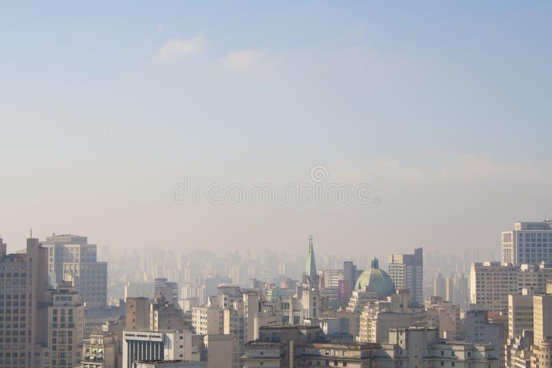 圣保罗天空  免版税库存图片