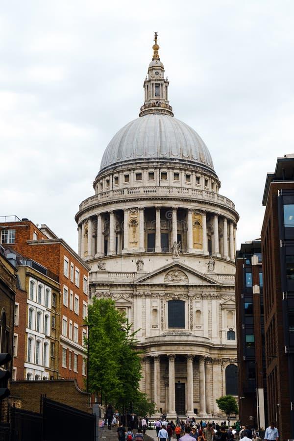 圣保罗座堂在伦敦,英国,2018年5月24日 免版税库存照片