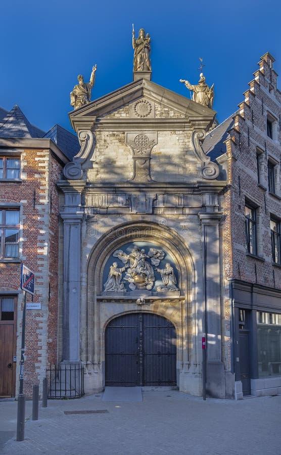 圣保罗教会入口门  免版税库存图片