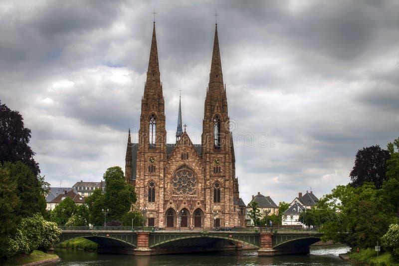 圣保罗教会,史特拉斯堡,法国 免版税图库摄影