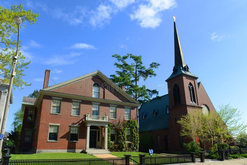 圣保罗的主教制度的教会,一致, NH,美国 免版税库存照片