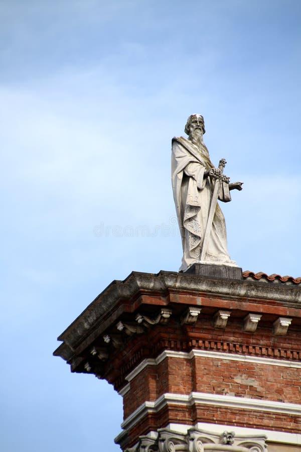圣保罗雕象传道者 免版税库存图片