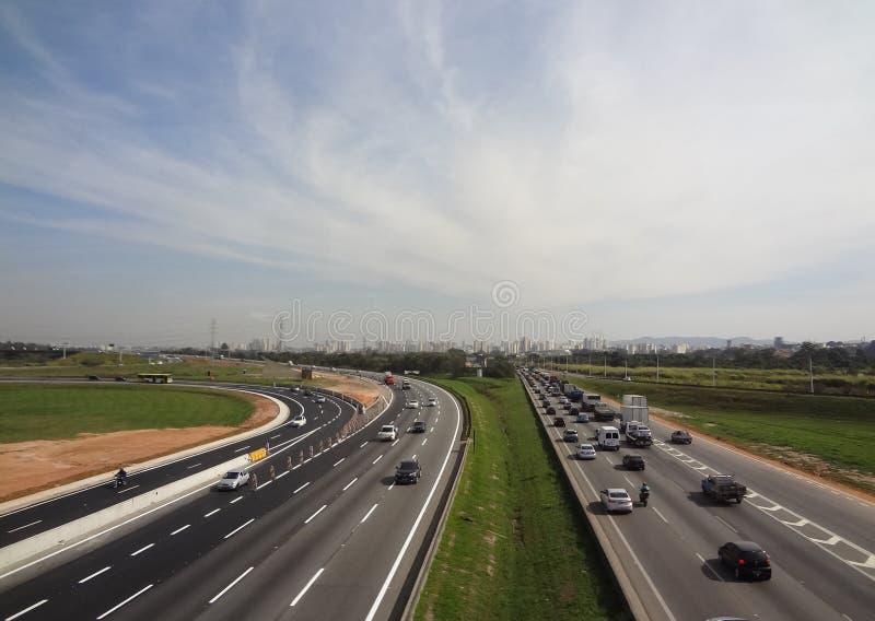 圣保罗高速公路 免版税图库摄影