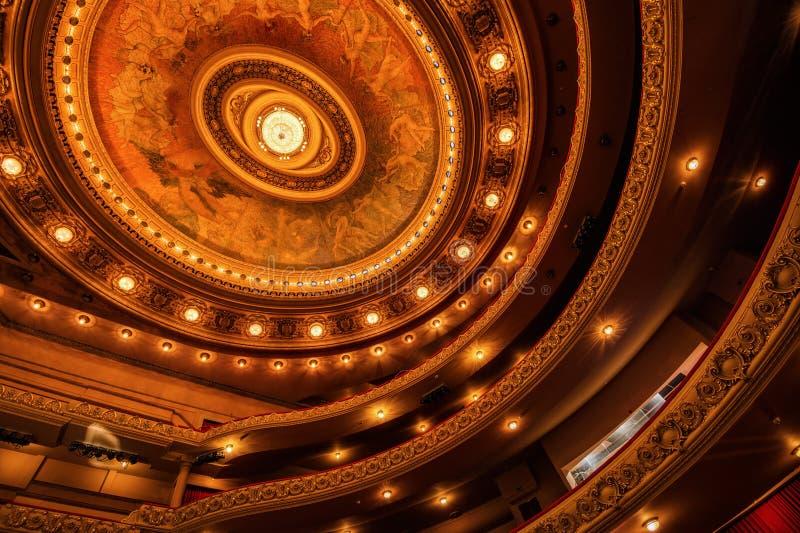 圣保罗,市政剧院 免版税图库摄影