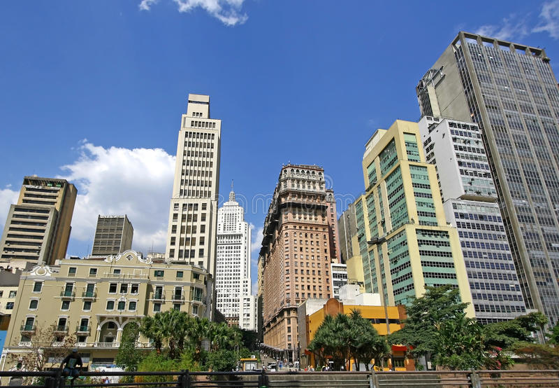 圣保罗,巴西。 免版税库存照片