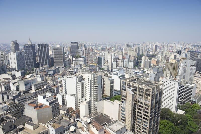 圣保罗巴西都市风景地平线垂直 免版税库存图片