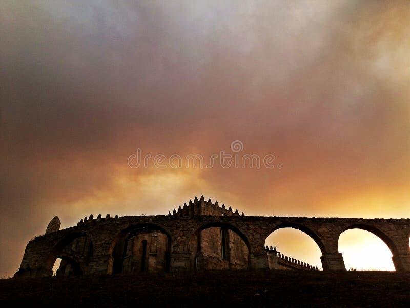 圣克拉拉,孔迪镇中世纪修道院,在波尔图附近, Portug 免版税库存照片