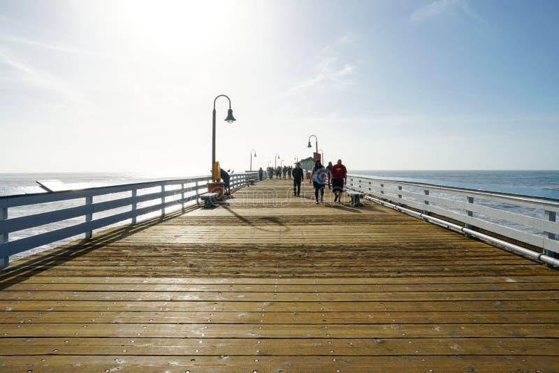 圣克莱芒特码头,加利福尼亚,美国 免版税库存图片