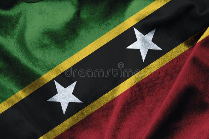 圣克里斯托弗St基茨希尔&尼维斯岛旗子 库存照片