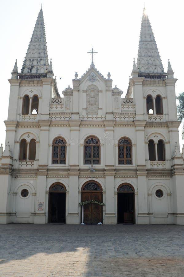圣克鲁斯大教堂在科钦 免版税库存照片