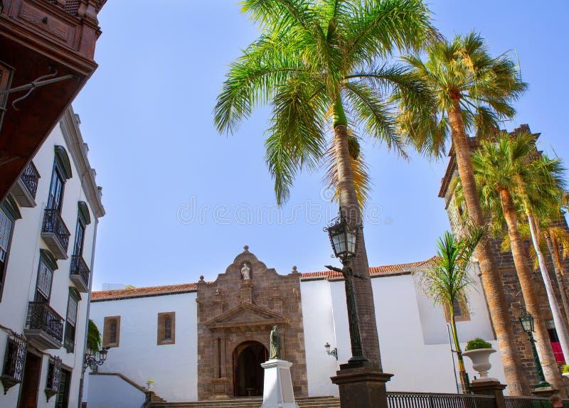 圣克鲁斯德拉帕尔马Plaza de西班牙 免版税图库摄影