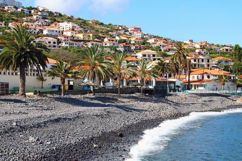 圣克鲁斯,马德拉岛海岛,葡萄牙 免版税库存照片