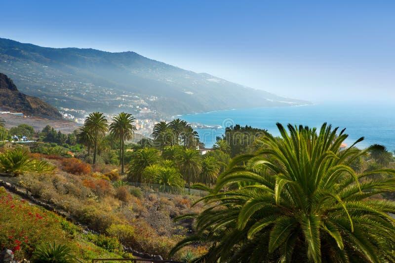 圣克鲁斯de拉帕尔马岛在大西洋加那利群岛 免版税库存图片