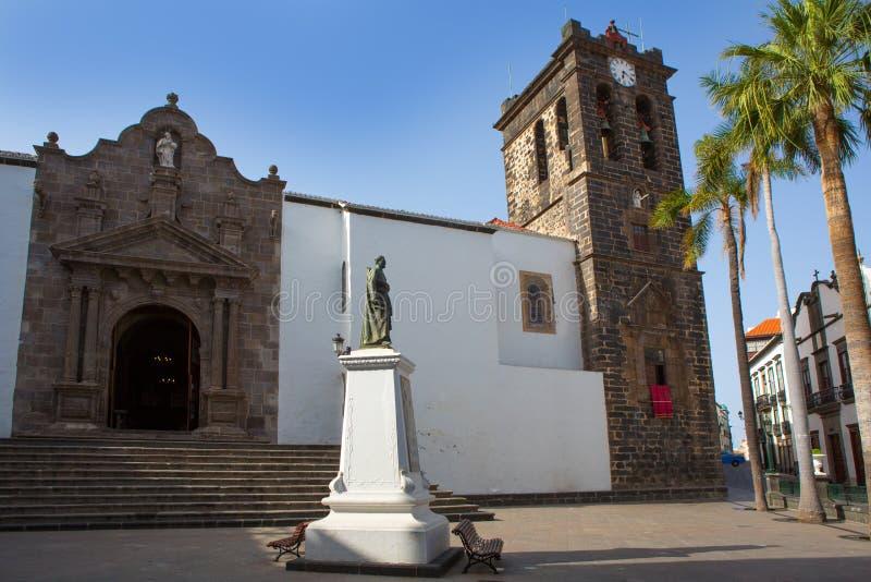 圣克鲁斯de拉帕尔马岛Plaza de西班牙 免版税库存照片