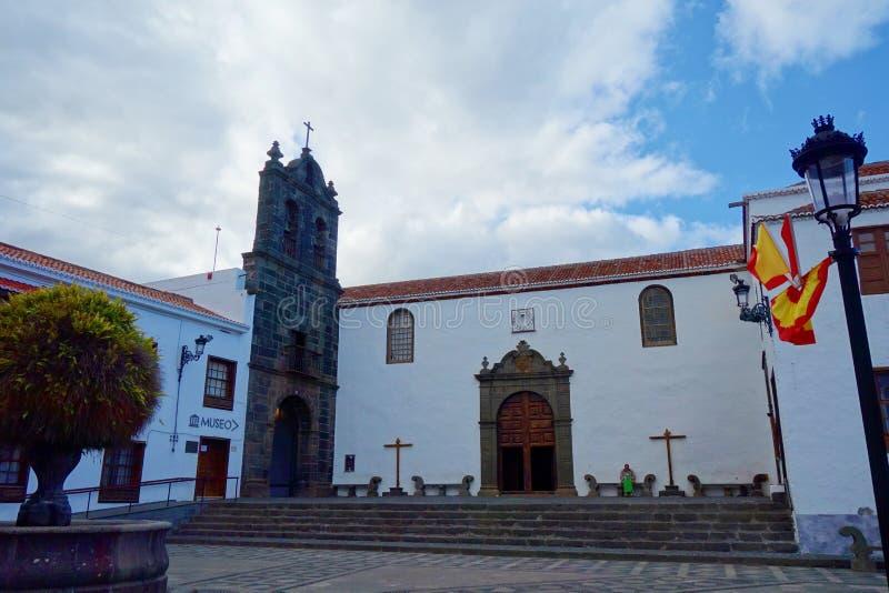 圣克鲁斯de la帕尔马,加那利群岛,西班牙的殖民地五颜六色的市中心 免版税库存照片
