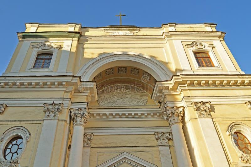 圣凯瑟琳天主教大教堂在圣彼得堡 免版税库存图片