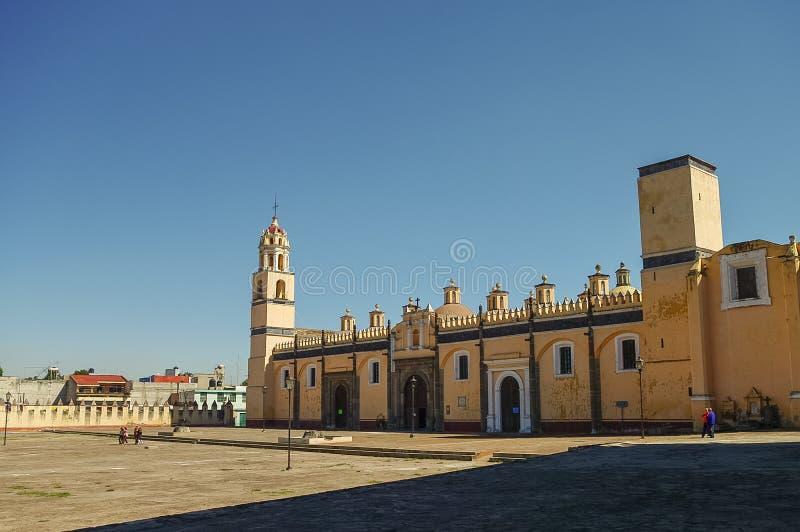 圣加布里埃尔天使男修道院(Convento de圣加百利), Cholul 免版税库存照片