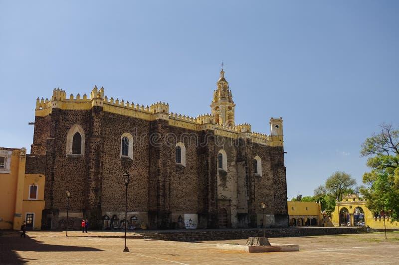 圣加布里埃尔天使男修道院(Convento de圣加百利), Cholul 免版税库存图片