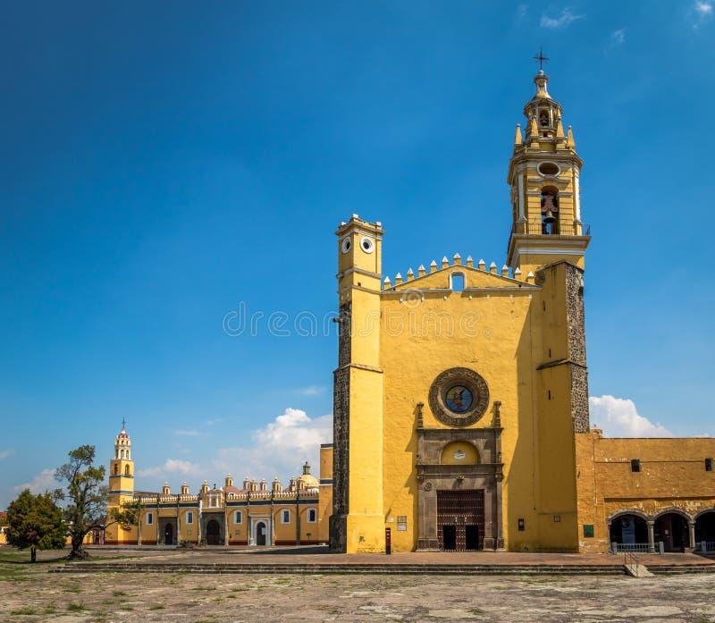 圣加布里埃尔天使男修道院Convento de圣加百利- Cholula,普埃布拉,墨西哥 库存照片