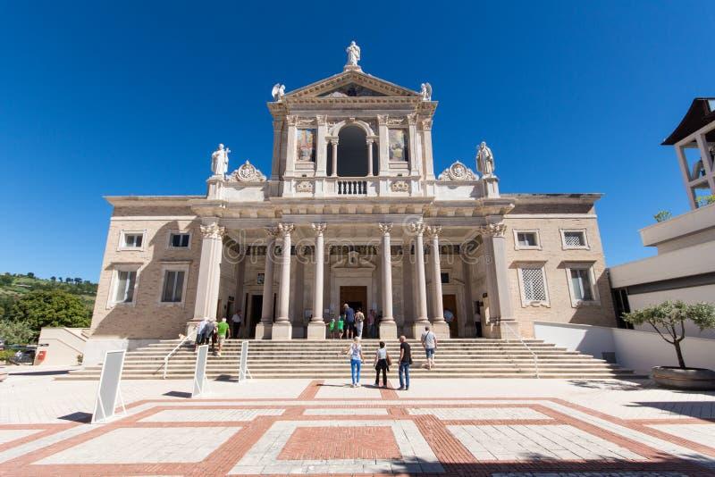 圣加布里埃莱dell'Addolorata在阿布鲁佐,意大利 免版税库存图片