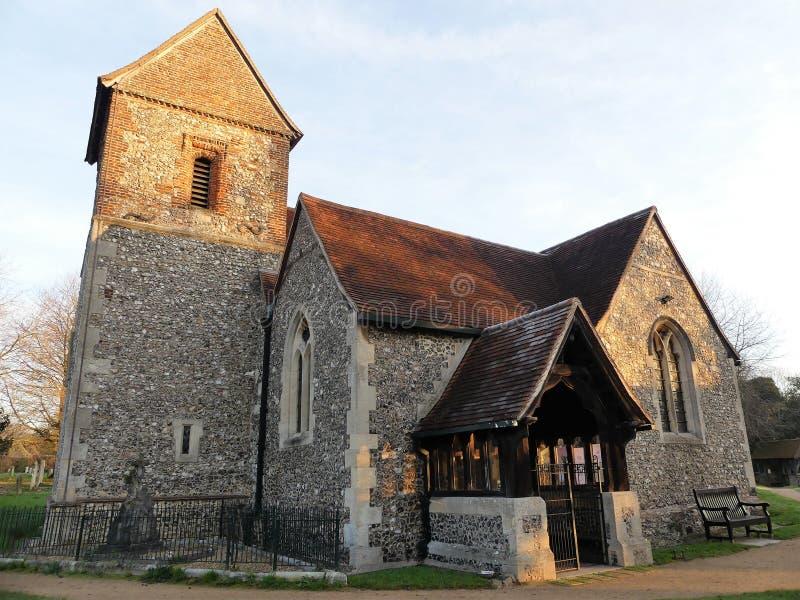 圣十字的教会,Sarratt,赫特福德郡 图库摄影